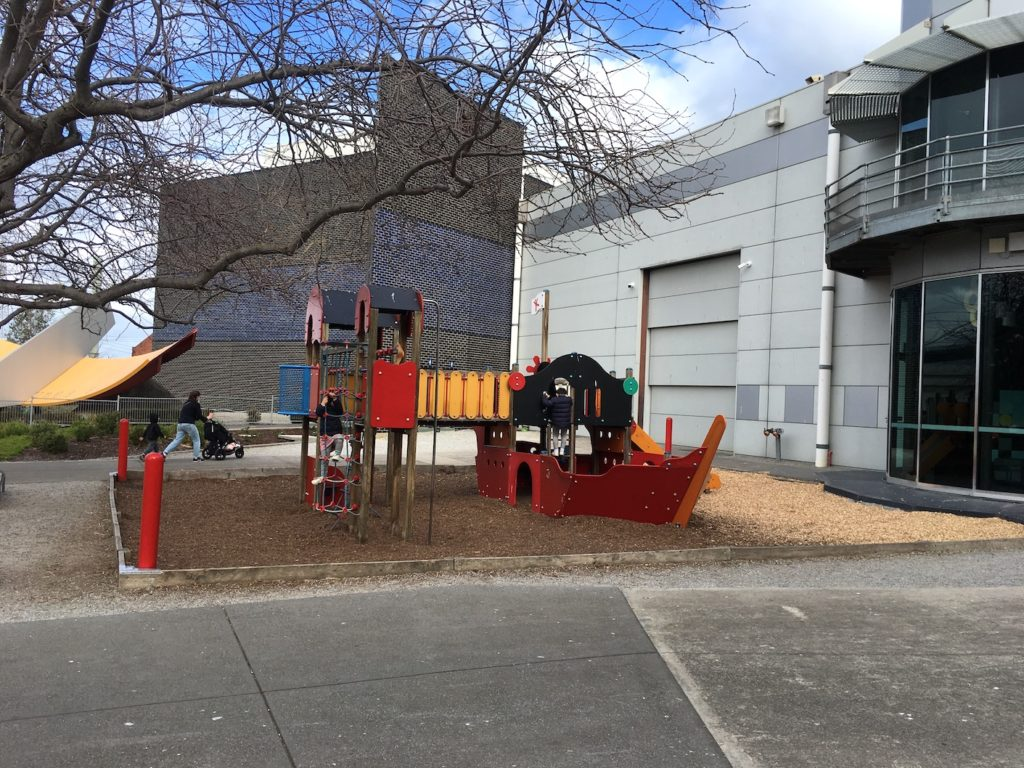 Melbourne kids Science Works Museum outside playground