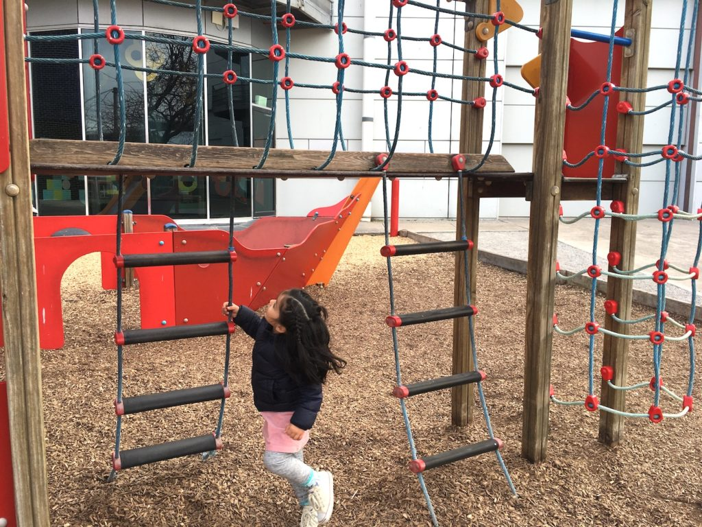Melbourne kids Science Museum outside playground climbing nets
