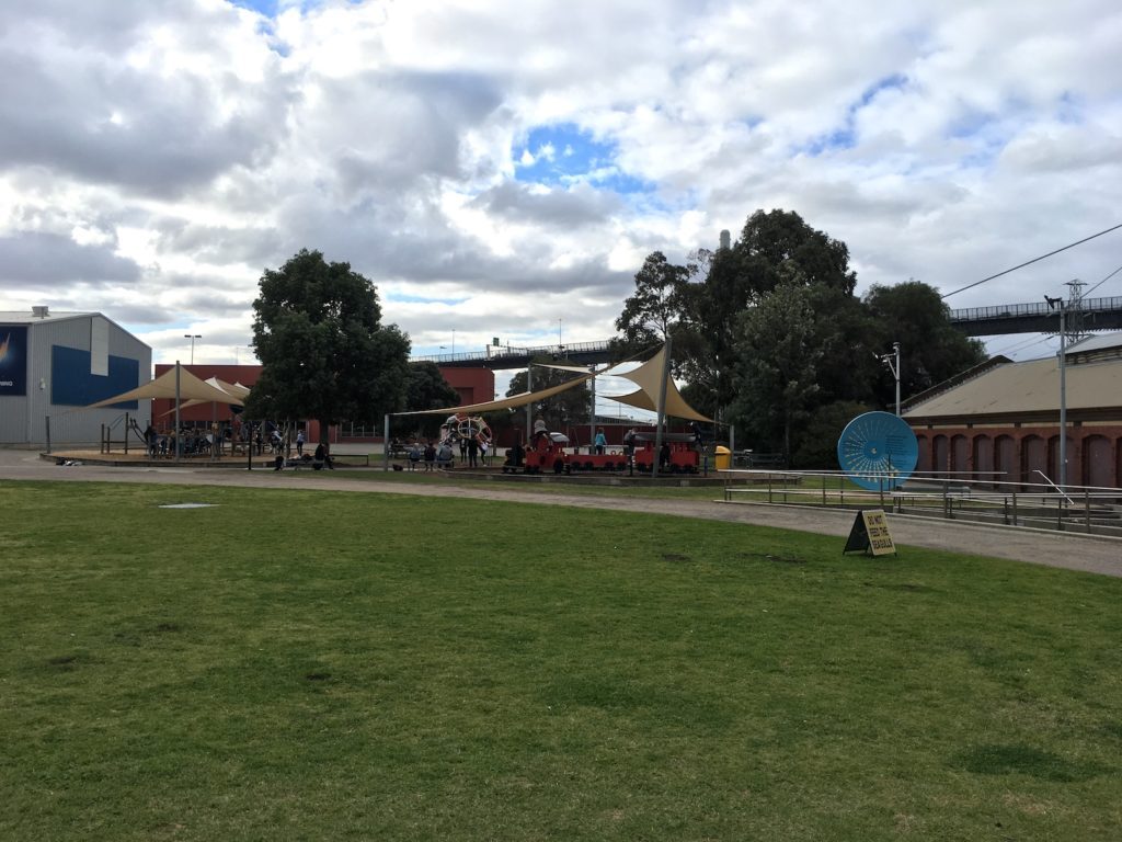 Melbourne kids Science Works Museum outside playgrounds