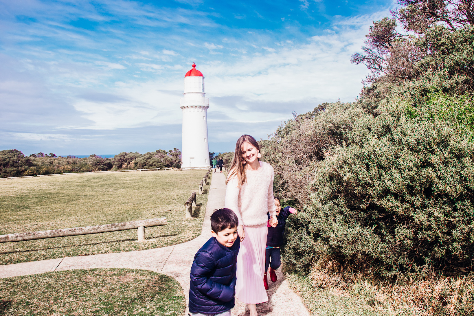 Mornington Peninsula Cape Schanck Lighthouse with kids