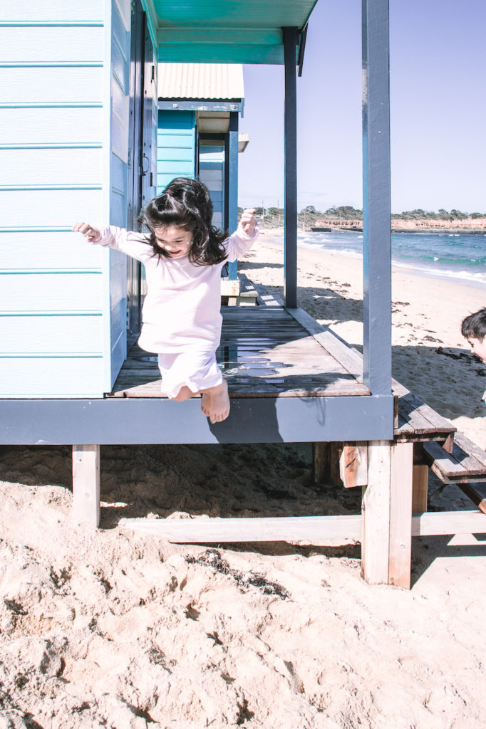 Beach house jumping onto sand, Mornington Peninsula