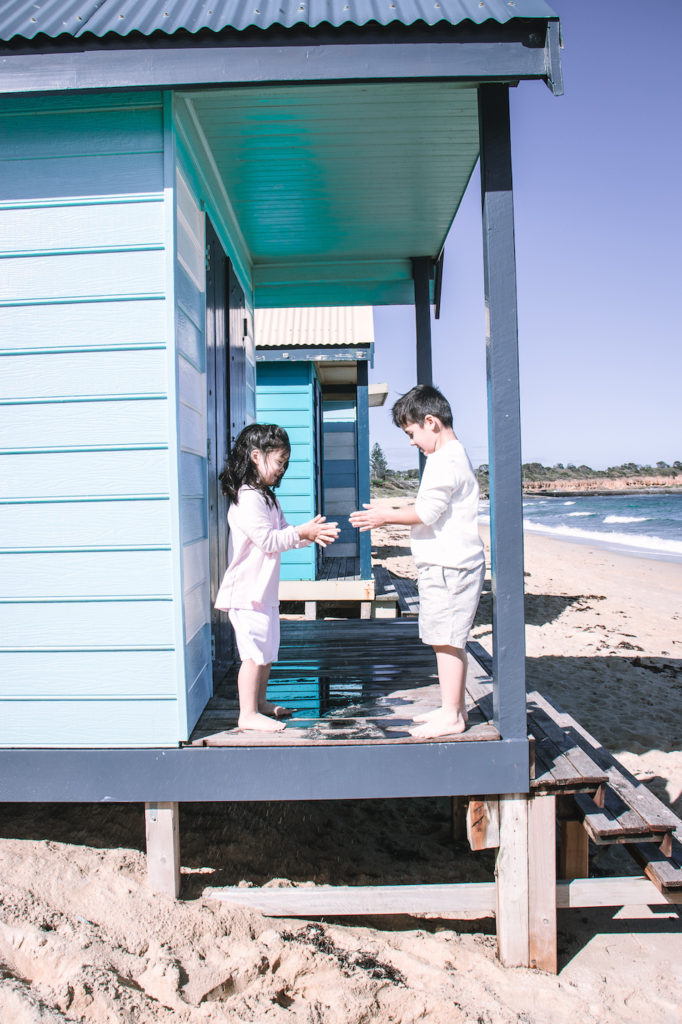 Beach house kids playing, Mornington Peninsula