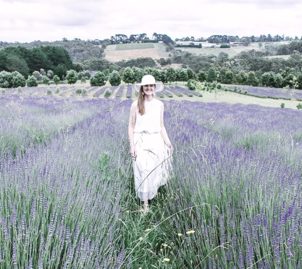 Enjoying the lavender fields in Red Hill Mornington Peninsula